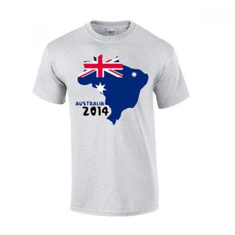 Australia 2014 Country Flag T-shirt (grey)