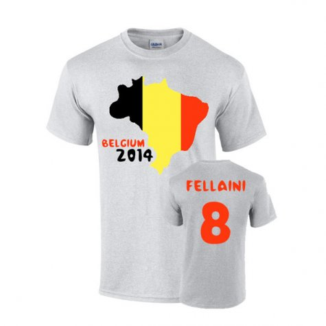 Belgium 2014 Country Flag T-shirt (fellaini 8)