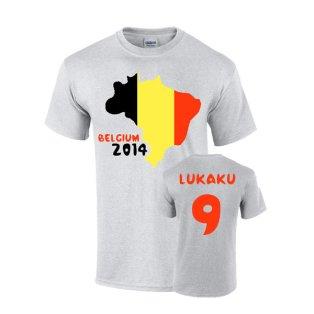 Belgium 2014 Country Flag T-shirt (lukaku 9)