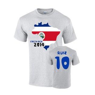 Costa Rica 2014 Country Flag T-shirt (ruiz 10)