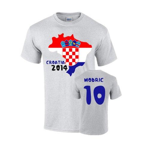 Croatia 2014 Country Flag T-shirt (modric 10)