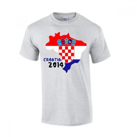 Croatia 2014 Country Flag T-shirt (grey)