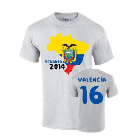 Ecuador 2014 Country Flag T-shirt (valencia 16)