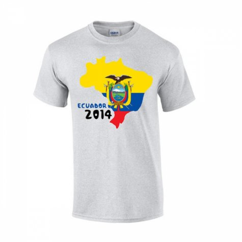 Ecuador 2014 Country Flag T-shirt (grey)