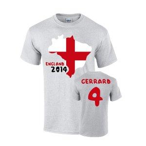 England 2014 Country Flag T-shirt (gerrard 4)