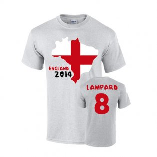 England 2014 Country Flag T-shirt (lampard 8)
