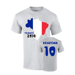 France 2014 Country Flag T-shirt (benzema 10)