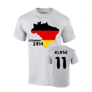Germany 2014 Country Flag T-shirt (klose 11)