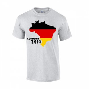 Germany 2014 Country Flag T-shirt (grey)
