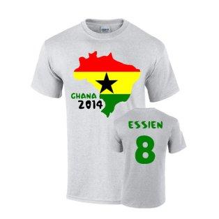 Ghana 2014 Country Flag T-shirt (essien 8)