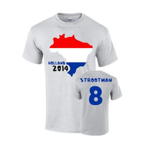 Holland 2014 Country Flag T-shirt (strootman 8)