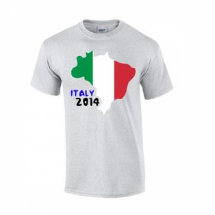 Italy 2014 Country Flag T-shirt (grey)