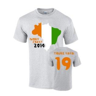 Ivory Coast 2014 Country Flag T-shirt (toure Yaya 19)