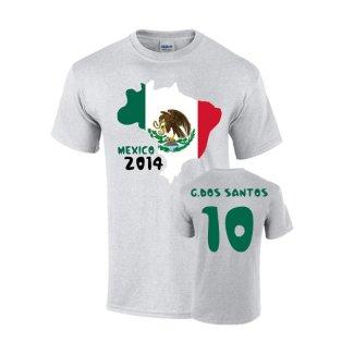 Mexico 2014 Country Flag T-shirt (dos Santos 10)