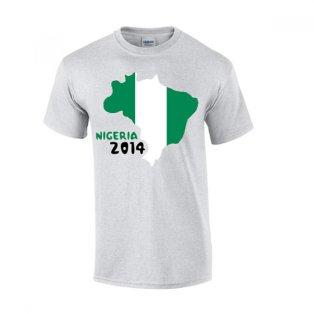 Nigeria 2014 Country Flag T-shirt (grey)