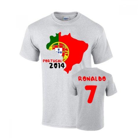 Portugal 2014 Country Flag T-shirt (ronaldo 7)
