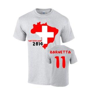 Switzerland 2014 Country Flag T-shirt (barnetta 11)