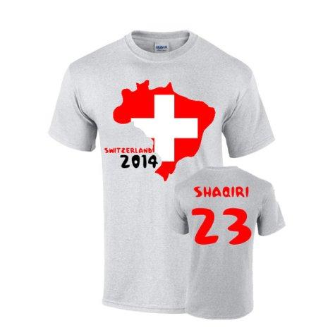 Switzerland 2014 Country Flag T-shirt (shaqiri 23)
