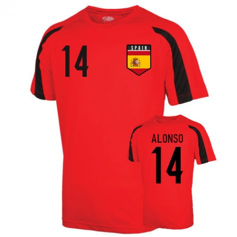 Spain Sports Training Jersey (alonso 14)