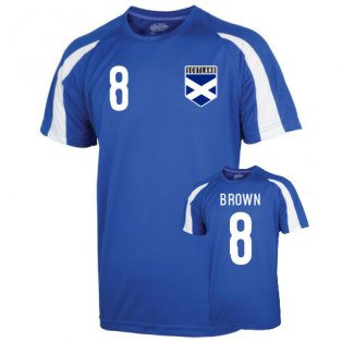 Scotland Sports Training Jersey (brown 8) - Kids