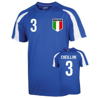 Italy Sports Training Jersey (chiellini 3) - Kids