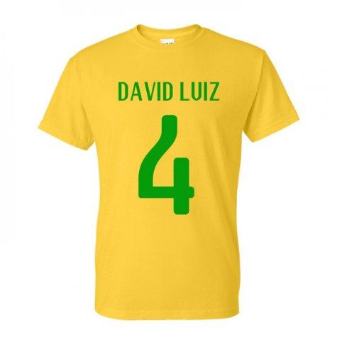 David Luiz Brazil Hero T-shirt (yellow)