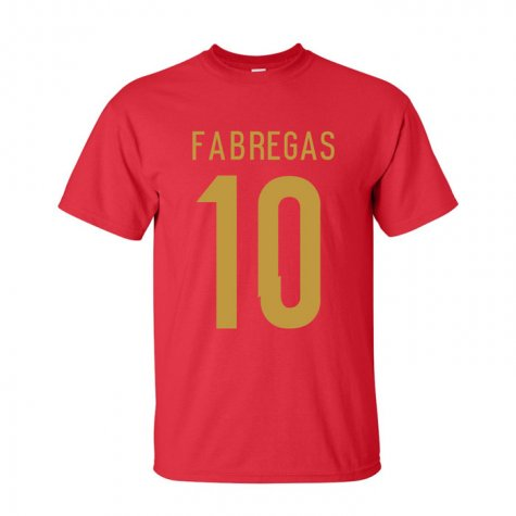 Cesc Fabregas Spain Hero T-shirt (red)