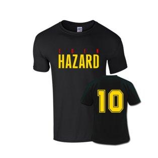 Eden Hazard Front Name T-shirt (black)