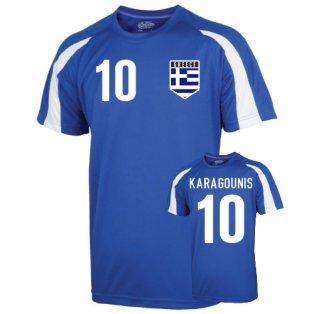 Greece Sports Training Jersey (karagounis 10) - Kids