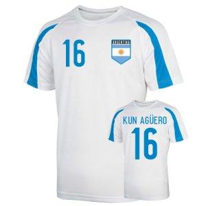 Argentina Sports Training Jersey (kun Aguero 16) - Kids