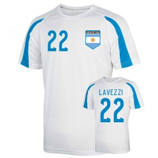 Argentina Sports Training Jersey (lavezzi 22) - Kids