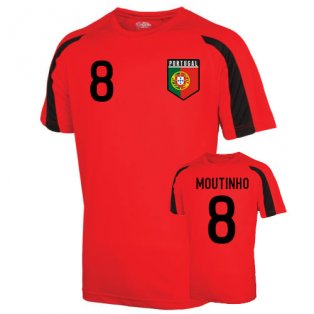 Portugal Sports Training Jersey (moutinho 8) - Kids