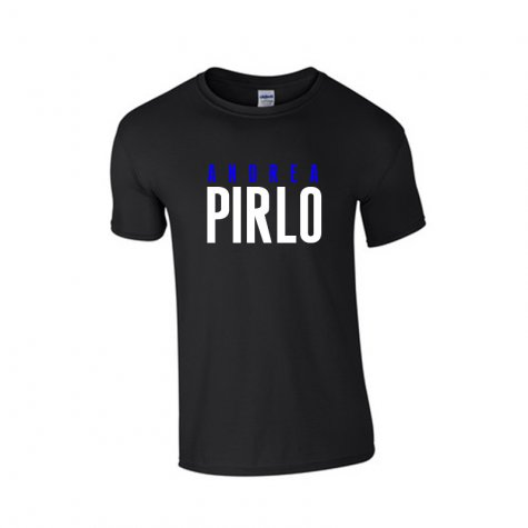 Andrea Pirlo Front Name T-shirt (black)