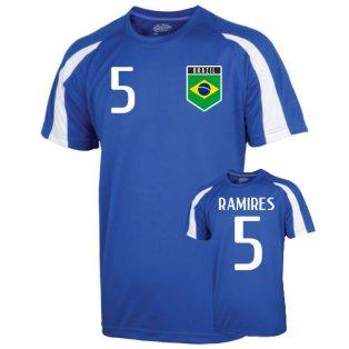 Brazil Sports Training Jersey (ramires 5) - Kids