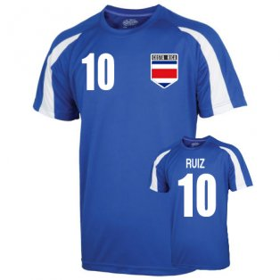 Costa Rica Sports Training Jersey (ruiz 10) - Kids