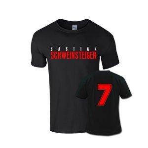 Bastian Schweinsteiger Front Name T-shirt (black)
