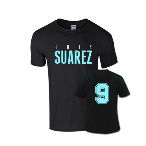 Luis Suarez Front Name T-shirt (black)