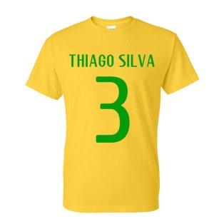 Thiago Silva Brazil Hero T-shirt (yellow)