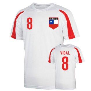 Chile Sports Training Jersey (vidal 8) - Kids