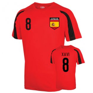 Spain Sports Training Jersey (xavi 8) - Kids
