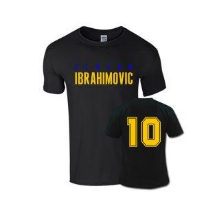 Zlatan Ibrahimovic Front Name T-shirt (black)