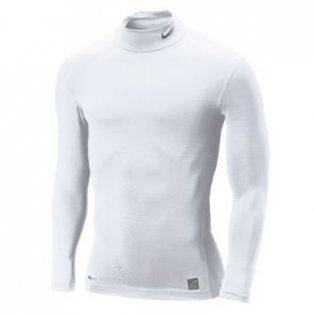 Nike Pro Core Mock Baselayer (white)