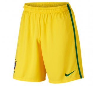 2016-2017 Brazil Nike Home Shorts (Yellow)