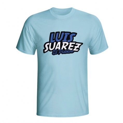 Luis Suarez Comic Book T-shirt (sky Blue) - Kids
