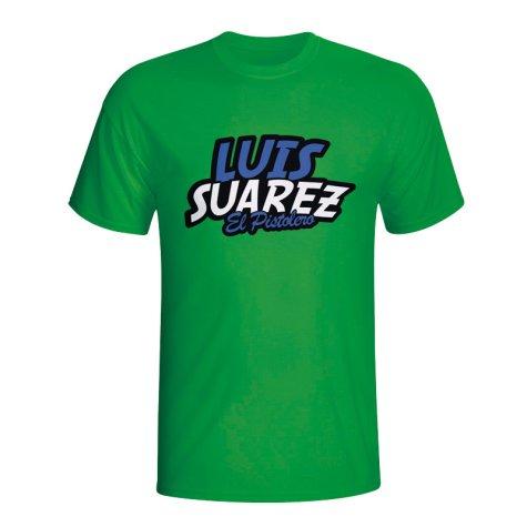 Luis Suarez Comic Book T-shirt (green)