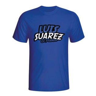 Luis Suarez Comic Book T-shirt (blue) - Kids
