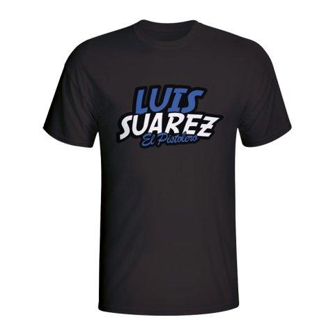 Luis Suarez Comic Book T-shirt (black)