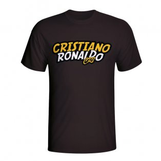 Cristiano Ronaldo Comic Book T-shirt (black) - Kids