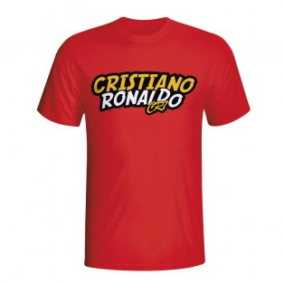 Cristiano Ronaldo Comic Book T-shirt (red) - Kids
