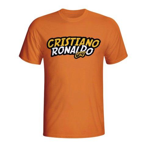 Cristiano Ronaldo Comic Book T-shirt (orange)